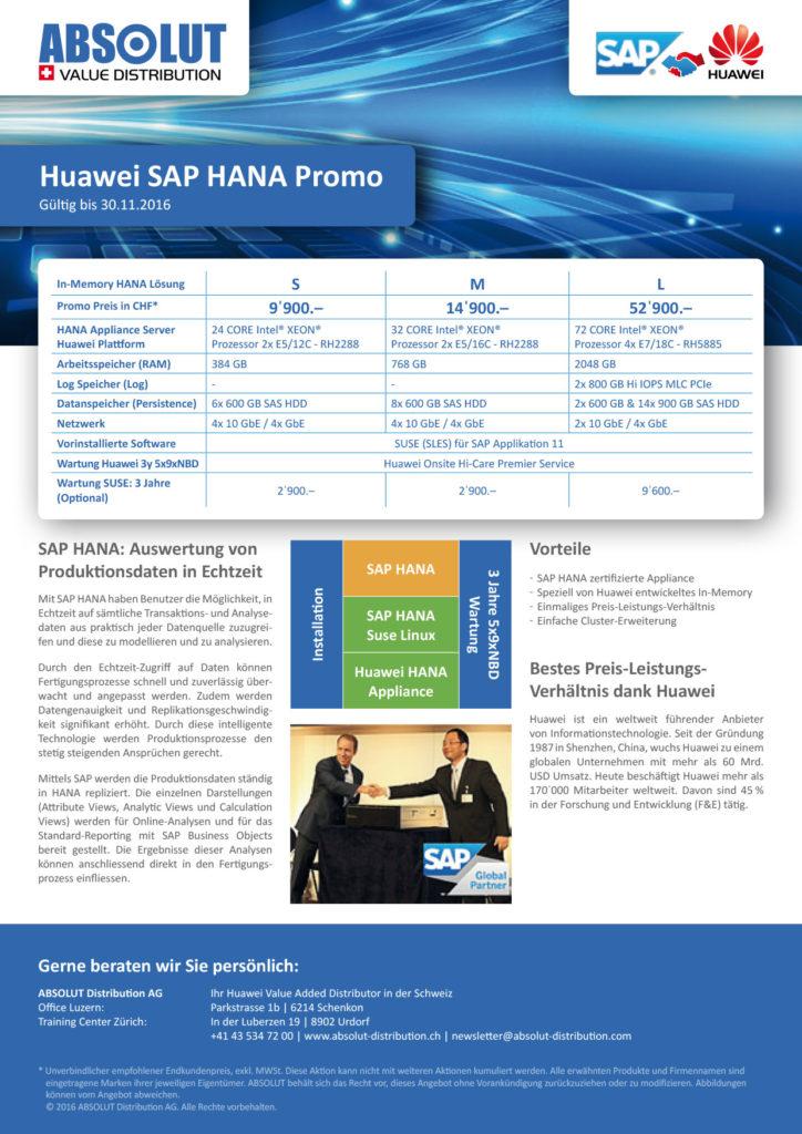 SAP Hana Promo